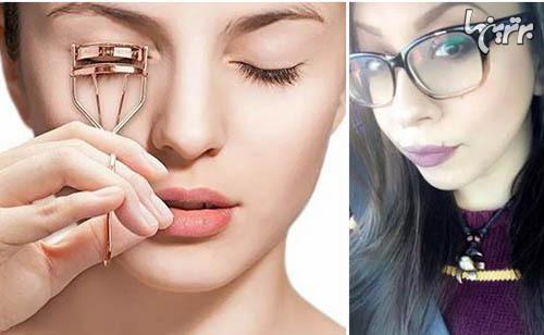 ترفند های آرایشی برای خانم های عینکی