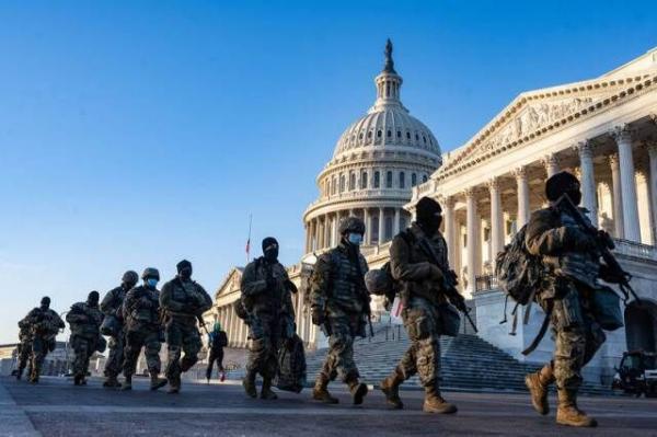 خبرنگاران هزاران گارد ملی در واشنگتن مستقر می شوند
