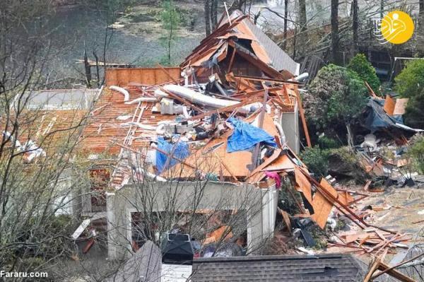 (تصاویر) طوفان مرگبار در آلاباما