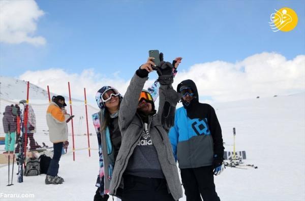 (تصاویر) گزارش رسانه خارجی از پیست اسکی توچال در روزهای کرونایی