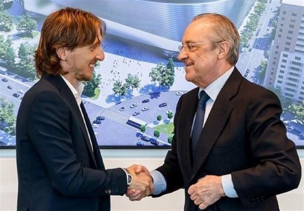 مودریچ قراردادش با رئال مادرید را تمدید کرد
