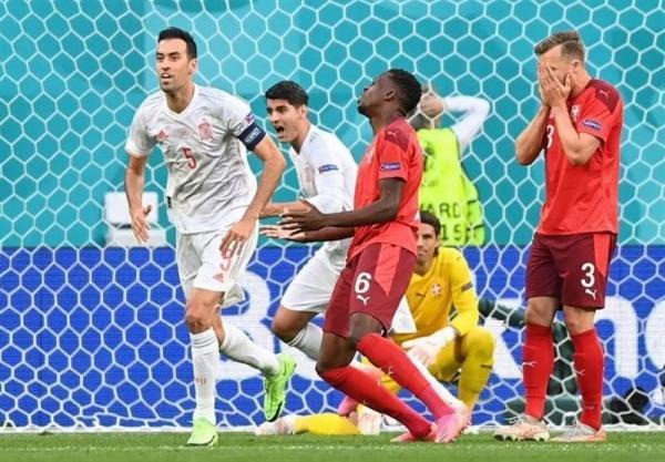 یورو 2020، اسپانیا با پیروزی در ضیافت پنالتی ها به نیمه نهایی رسید، سوئیس این بار کم آورد