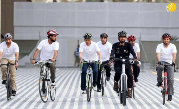 تور دبی ارزان: حاکم دبی با دوچرخه به نمایشگاه اکسپو رفت